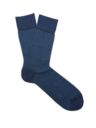 Falke Wicker Cotton Blend Socks Navy Multi