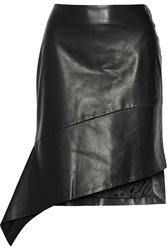 Reed Krakoff Asymmetric Leather Skirt