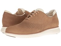 Cole Haan 2.0 Grand Laser Wing Oxford Transient Nubuck Ivory Men's Lace Up Casual Shoes Brown