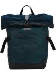 Paul Smith Fold Over Top Backpack Blue
