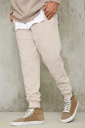 Forever 21 Fleece Moto Joggers Taupe