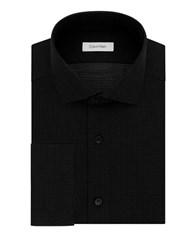 Calvin Klein Slim Fit Microdot Dress Shirt Black Velvet