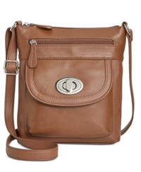 Giani Bernini Pebble Leather Crossbody Only At Macy's Tobacco