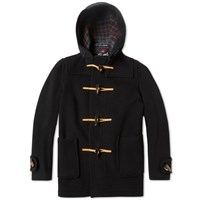 Gloverall X End. Mid Length Duffle Coat Black