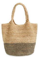 Straw Studios Colorblock Straw Shoulder Bag