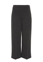 Hallhuber Jersey Culottes With Centre Crease Black