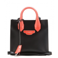 Balenciaga Padlock Nude Mini All Afternoon Leather And Snakeskin Tote Black Red