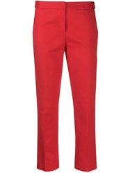 Michael Michael Kors Stripe Cropped Trousers Red
