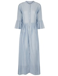Ulla Johnson Blue Striped Button Down Irena Dress