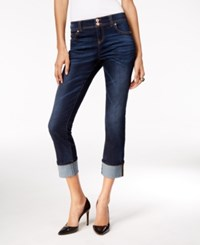 Inc International Concepts Petite Cropped Onyx Wash Straight Leg Jeans Only At Macy's