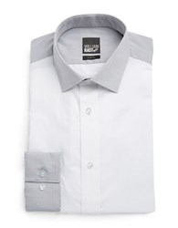 William Rast Colorblocked Dress Shirt White