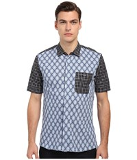 Vivienne Westwood Sugar Pique Classic Short Sleeve Shirt Navy Check Men's Clothing