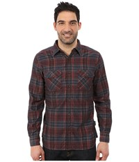 Royal Robbins Colville Cord Long Sleeve Shirt Dark Ember Men's Long Sleeve Button Up Brown