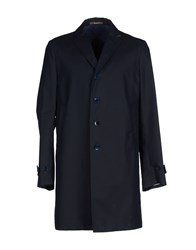 Paoloni Coats And Jackets Full Length Jackets Men Dark Blue