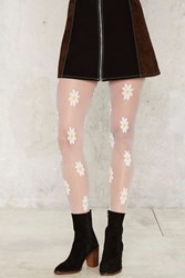Daisy For Days Sheer Tights White