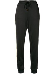 Versace Jeans Side Stripe Track Pants Black