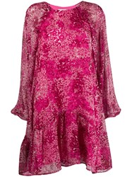 Essentiel Antwerp Floral Print Shift Dress Pink