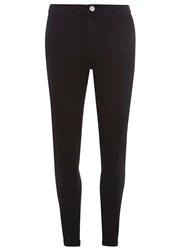 Dorothy Perkins Tall Black Fly Front Lyla High Waisted Tube Jeans