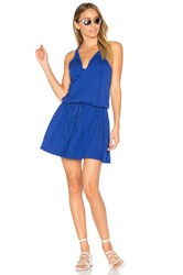 Michael Stars Tied Mini Dress Blue