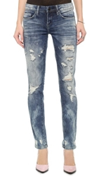 Blank Distressed Cuffed Boyfriend Jeans Fit Of Rage