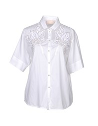 Via Delle Perle Vdp Collection Shirts White