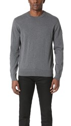 Belstaff Kilsby Cotton Crew Sweater Dark Grey Melange