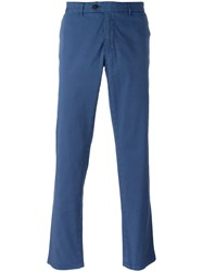 Fay Plain Chinos Blue
