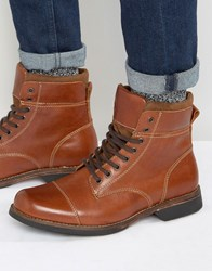 Aldo Swithbert Leather Laceup Boots Tan