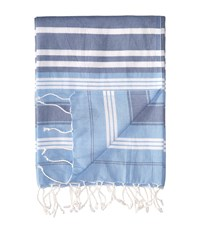 Hat Attack Beach Throws Multi Stripe Light Blue Multi Stripe Scarves