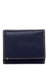 Robert Graham Capria Leather Trim Tri Fold Wallet Blue