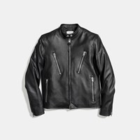 Coach Leather Racer Jacket Black