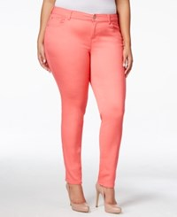 Celebrity Pink Petite Plus Size Skinny Jeans Calypso Coral