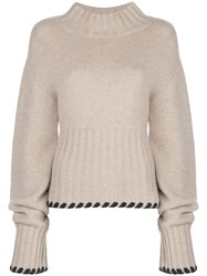 Khaite Colette Contrast Whipstitching Wool Jumper 60
