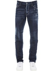 Dsquared 16.5Cm Cool Guy Cotton Denim Jeans Blue