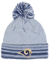 New Era Women's Los Angeles Rams Snow Crown Redux Knit Hat Gray Navy