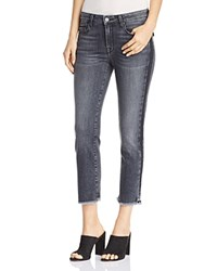 Parker Smith Cropped Straight Leg Jeans In Black Crush