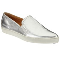 John Lewis Kin By Elise Pointed Toe Slip On Trainers Silver