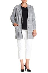 Nydj Windowpane Jacket Plus Size White