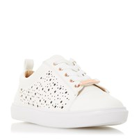 Head Over Heels Esther Star Cut Out Trainers White