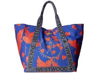 Vivienne Westwood Africa Siva Yoga Shopper Blue Red Tote Handbags