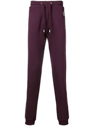Kenzo Drawstring Track Trousers Pink And Purple