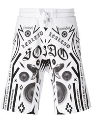 Marcelo Burlon County Of Milan Multiple Prints Sweat Shorts White