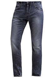 Tom Tailor Troy Straight Leg Jeans Mid Stone Wash Blue Denim