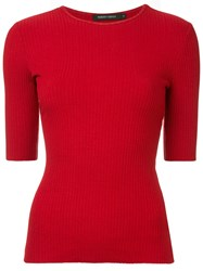 Nobody Denim Luxe Rib T Shirt Red