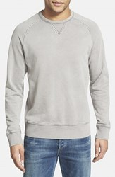 Men's Jeremiah 'Armstrong' Sunwashed French Terry Sweatshirt Silver