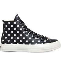 Converse All Star Ox 70S Leather High Tops Black Polka Dot