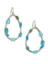 Ippolita 925 Rock Candy Large Turquoise Teardrop Earrings Silver Turquoise