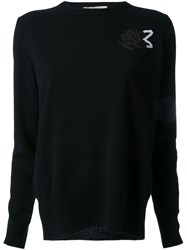 Christopher Kane Rose Sequin Jumper Black