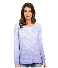 Splendid Ambrose Knit Long Sleeve Lavender Blue Women's Long Sleeve Pullover Purple