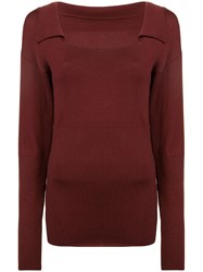 Jacquemus Praio Loose Fitted Sweater Red